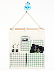 Four Pockets With Pothook Behind The Door  Home Furnishing Storage Bag Random Colors