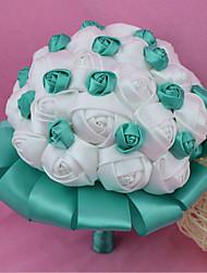 """Bouquets de Noiva Redondo Rosas Buquês Casamento Poliéster 7.09""""(Aprox.18cm)"""