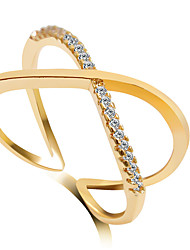 Ringe Crossover Hochzeit / Party Schmuck Aleación Damen Statementringe 1 Stück,6 / 7 / 8 / 9 Goldfarben / Silber / Rotgold