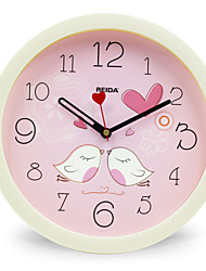 (Color random)8 Inches Children Bedroom Cute Cartoon Wall Clock Mute Circular Clock Quartz Clock