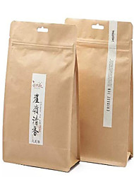 Octagonal Seal Kraft Independence Bags Tea Food Nuts Dried Jujube Dates A Pack Of Ten Self-Styled Zipper Bags