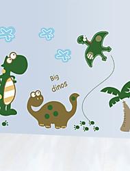 Cartoon Dinosaur Park Wall Stickers Environmental Fashion Animals Children's Bedroom Wall Decals