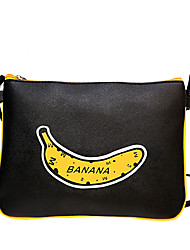 Women Casual Bananas Printing Letters Shopping Shoulder Bag  Mobile Phone Bag