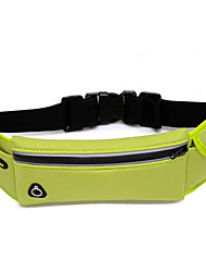 Unisex Waist Bag Nylon Fall Casual Sports Outdoor Baguette Zipper Black Fuchsia Green Blue