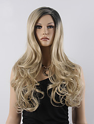 Top Grade Blonde Ombre Wig Long Wavy Cheap Women Synthetic Wig Fashion Natural Hair Women's Wigs