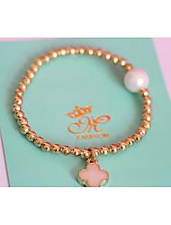 Women's Circle Golden Crystal  Strand Bracelets 1PC