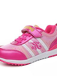 Para Meninas-TênisRasteiro-Roxo Coral Pêssego-Couro Ecológico-Ar-Livre Para Esporte