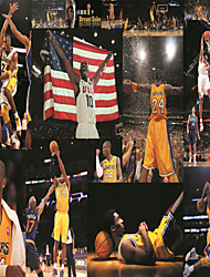 JAMMORY Wallpaper For Home Wall Covering Canvas Adhesive required Mural Color Posters Basketball Game3XL(14'7''*9'2'')