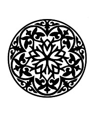 Florals Wall Stickers Mandala Wall Stickers Religious Wall Stickers,Vinyl Murals Removable Round Decals