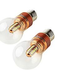 5W E26/E27 Ampoules Globe LED A60(A19) 25 SMD 2835 460 lm Blanc Chaud Décorative AC 85-265 AC 100-240 AC 110-130 V 2 pièces
