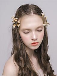 MISS DIVA Women's Alloy Headpiece Hair Clip 1 Piece Champagne Flower 52