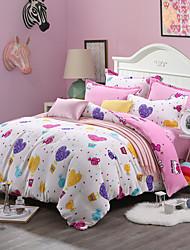 2016 new Print Bedlinen Fleece winter bedding set queen king size soft bedsheet pillowcase Duvet cover 4pcs bed set