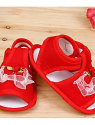 Mädchen-Sandalen-Outddor-Baumwolle-Flacher Absatz-Sandalen-Blau / Rosa / Rot