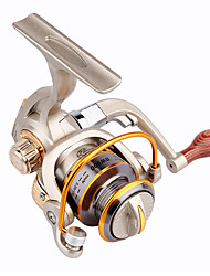 Metal & Plastic  Fishing Spinning Reels 8 Ball Bearings  Exchangable Handle-BW500