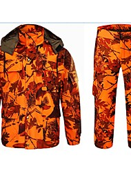 Outdoor Sports Autumn Camo Jacket Coat with Trousers for Hunting Fishing S Camouflage Hunting Suit=Jacket+Trousers