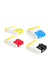 cartouche meng xiang lc960, un paquet de 4 boîte, carton, différentes couleurs sont: noir, rouge, jaune, bleu