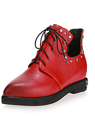 Women's Boots Fall /  Riding Boots / Fashion Boots / Bootie / Comfort / Combat Boots / Pointed Toe Leather / Leatherette