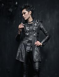 punks casacos longos y-366 do vintage / ocasional meio de manga longa das mulheres delírio