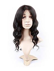 evawigs средняя часть у свободная волна бразильские виргинские человеческие волосы Remy фронта шнурка необработанный черный цвет
