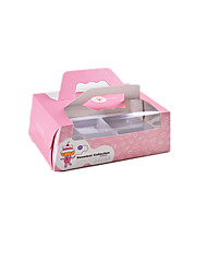 Packaging & Shipping Pink (Cake people) Snack Box A Pack of Six