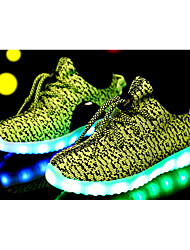 LED Light Up Shoes,Boy's Girl's Sneakers Spring Summer Fall Comfort Mary Jane Tulle Casual Lace-up Others Black Blue Green Pink Red Gray