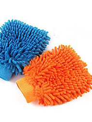 Car Washing Water Supplies Kits Coral Velvet Sided Chenille Gloves Bear Paw