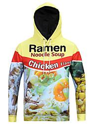Men's Print Casual / Sport Pocket Hoodie Long Sleeve Beer Pork Chicken Food Printed Funny 3D Hoodie