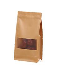 cor amarela, outras embalagens de material&enviando 20 * 30 + 8 cm kraft ziplock sacos de um pacote de sete
