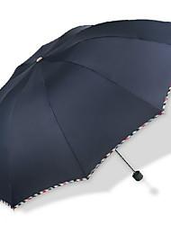 Negro Paraguas de Doblar Soleado y lluvioso textil Viaje / Lady / Hombre