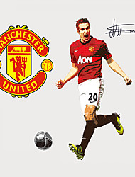 Manchester United Robin Van Persie Football People Wall Stickers Personality Living Room Bedroom Wall Decals Removable