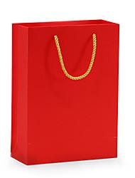Saco de papel de cor vermelha