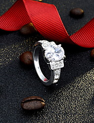 AAA Zircon Fing Statement Ring for Wedding Party