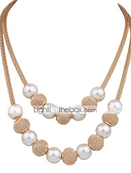 Necklace Choker Necklaces / Strands Necklaces / Layered Necklaces Jewelry Wedding / Party / Daily Fashionable / Adorable Pearl / Alloy