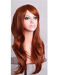 Fashion Party Cheap Cosplay Wigs Full Synthetic Wigs 28 Inch Long Hair Wig Black And Brown