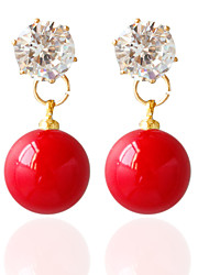 Alloy Drop Earrings Fashionable Earrings Wedding/Party 1 pair
