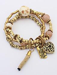 Strand Bracelets 1pc,Red / Blue / Pink Bracelet Fashionable Circle 514 Alloy Jewellery