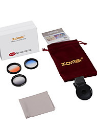 zomei® m2 gc gris + gc-bule + gc orange pince iphone lense pour iphone / caméra smartphone Android