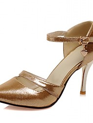 Women's Heels Spring / Summer / Fall Heels / Round Toe Synthetic / Patent Leather / LeatheretteWedding Rose Gold
