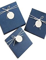 Exquisite String Small Square Box Valentine'S Day Gift Birthday Gift Three-Piece Gift Box Packaging Business19*19*9