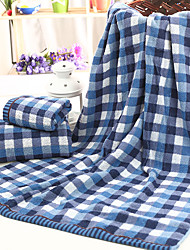"""1 PC Full Cotton Bath Towel  Super Soft 23"""" by 47""""  Plaid Pattern Not Dropping Wool"""