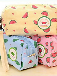 Japan And South Korea Watermelon Canvas Cosmetic Bag Purse Large Capacity Pencil Case Stationery For Student