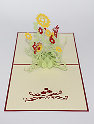 Paper Craft 3D Pop-up Greeting Card For Birthday Festival Party