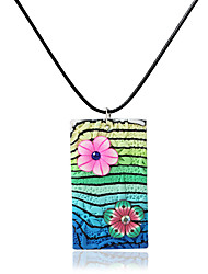 Necklace Pendant Necklaces Jewelry Daily Fashionable Ceramic Green 1pc Gift