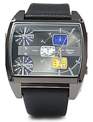 Oulm® 3602 Men Square 3 Movement Table Strap Watch