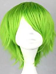 peluca cosplay peluca de pelo corto y rizado peluca sintética traje de color verde sin tapa 3 colores
