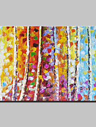 Hand Painted Knife Trees Landscape Oil Paintings On Canvas Modern Wall Art With Stretched Frame Ready To Hang
