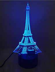 Eiffel Tower Touch Dimming 3D LED Night Light 7Colorful Decoration Atmosphere Lamp Novelty Lighting Christmas Light
