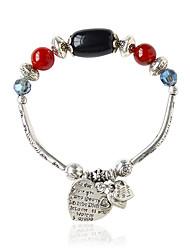 Bracelet Chaînes & Bracelets Alliage Forme Ovale Bohemia style Bijoux Cadeau Noir / Jaune,1pc