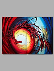 Hand-Painted Abstract Phoenix Oil Painting on Canvas Wall Art Contempory Abstract Color Melody Home Deco Ready to Hang