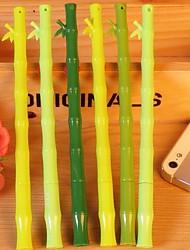 Cute Bamboo 0.3mm Gel Pen Can Change Refill (Random Colors)